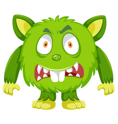 A green monster character vector