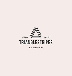 A letter triangle logo hipster vintage retro icon vector