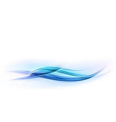abstract shape blue wave vector image