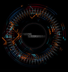 Abstract tech colors round motion vector