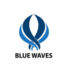 abstract wave logo design template vector image
