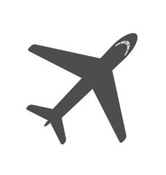 Airplane icon contour vector
