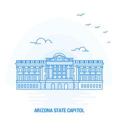 arizona state capitol blue landmark creative vector image