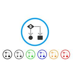 Bitcoin algorithm scheme rounded icon vector