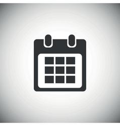 Black calendar icon 1 vector