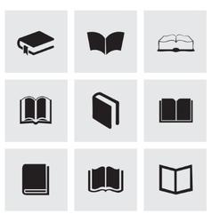 black schoolbook icons set vector image