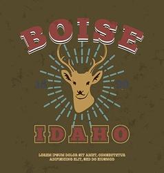 Boise Idaho t-shirt graphic print vector