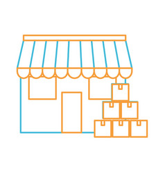 Boxes and store design vector