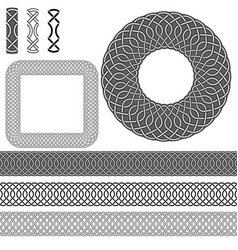brush pattern elements vector image