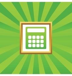 Calculator picture icon vector image