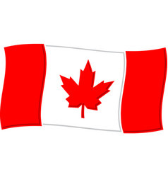 canadian flag graphic vector image