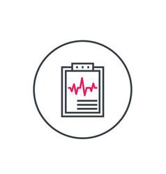 Cardiogram heart diagnosis linear icon vector
