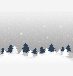 christmas background in clear winter snowflakes vector image