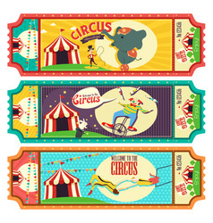 Circus ticket design vector