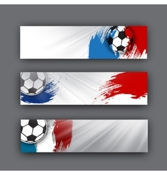 collection banners on a football theme vector image