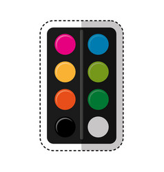 Colors pallette isolated icon vector