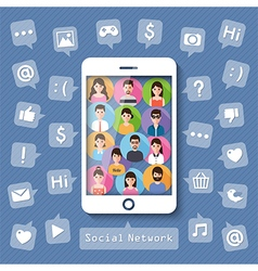 Connecting people via social network vector