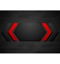 Contrast red black geometric abstract background vector