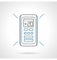 Control cooling flat line icon vector