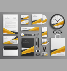 Corporate company merchandise design set vector