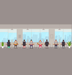 coworking space with people young people men vector image
