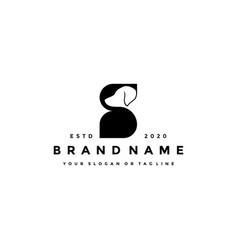 Creative design initials letter s dog vector