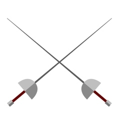 Cross swords vector