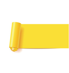 curl of yellow paper vector image
