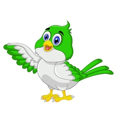 Cute bird cartoon posing vector image
