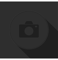 dark gray icon with camera vector image