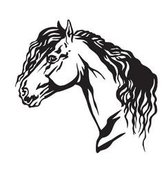 Decorative portrait of horse 10 vector