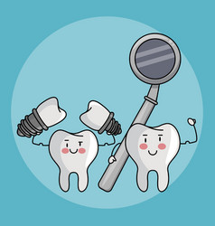 dental care cartoons vector image