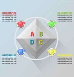 Diamond info Graphic Luxury Glow Plan vector image