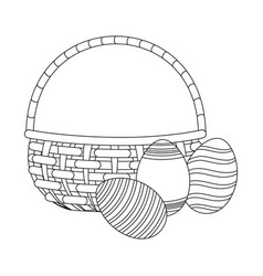 easter eggs cartoon vector image