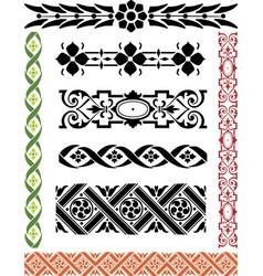 Elements borders vector
