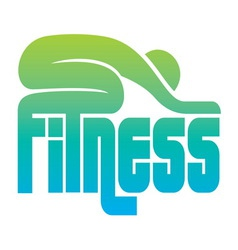 Fitness sign vector