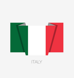 flag of italy flat icon waving flag with country vector image
