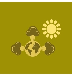 Flat icon on stylish background earth greenhouse vector