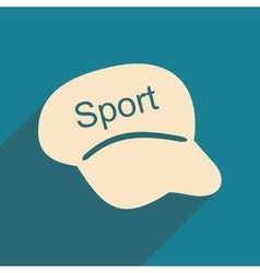 Flat with shadow icon and mobile applacation cap vector
