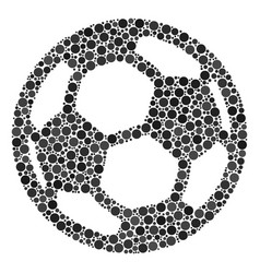 Football ball collage of filled circles vector