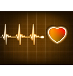Graph from a heart beat and a heart eps 8 vector