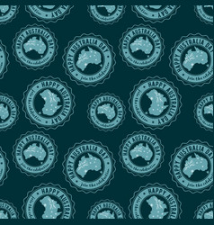 happy australia blue seamless pattern vector image