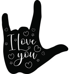 i love you on white background vector image
