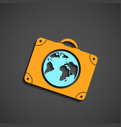 Icon suitcase for travel vector