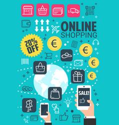 internet online shopping poster vector image