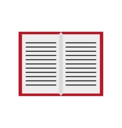 Isolated book object design vector