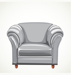 isolated white armchair vector image