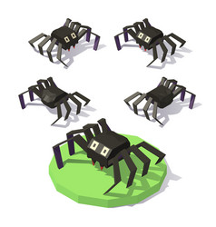 isometric low poly spide vector image