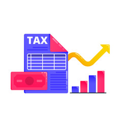 logos for increase economic and tax revenue tax vector image
