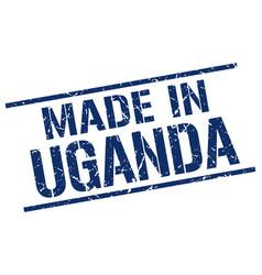 made in uganda stamp vector image
